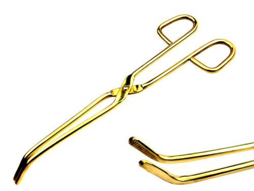 PURE BRASS HOLDING TONGS TONG JEWELLERY JEWELRY FURNACE CASTING TOOL 220 mm