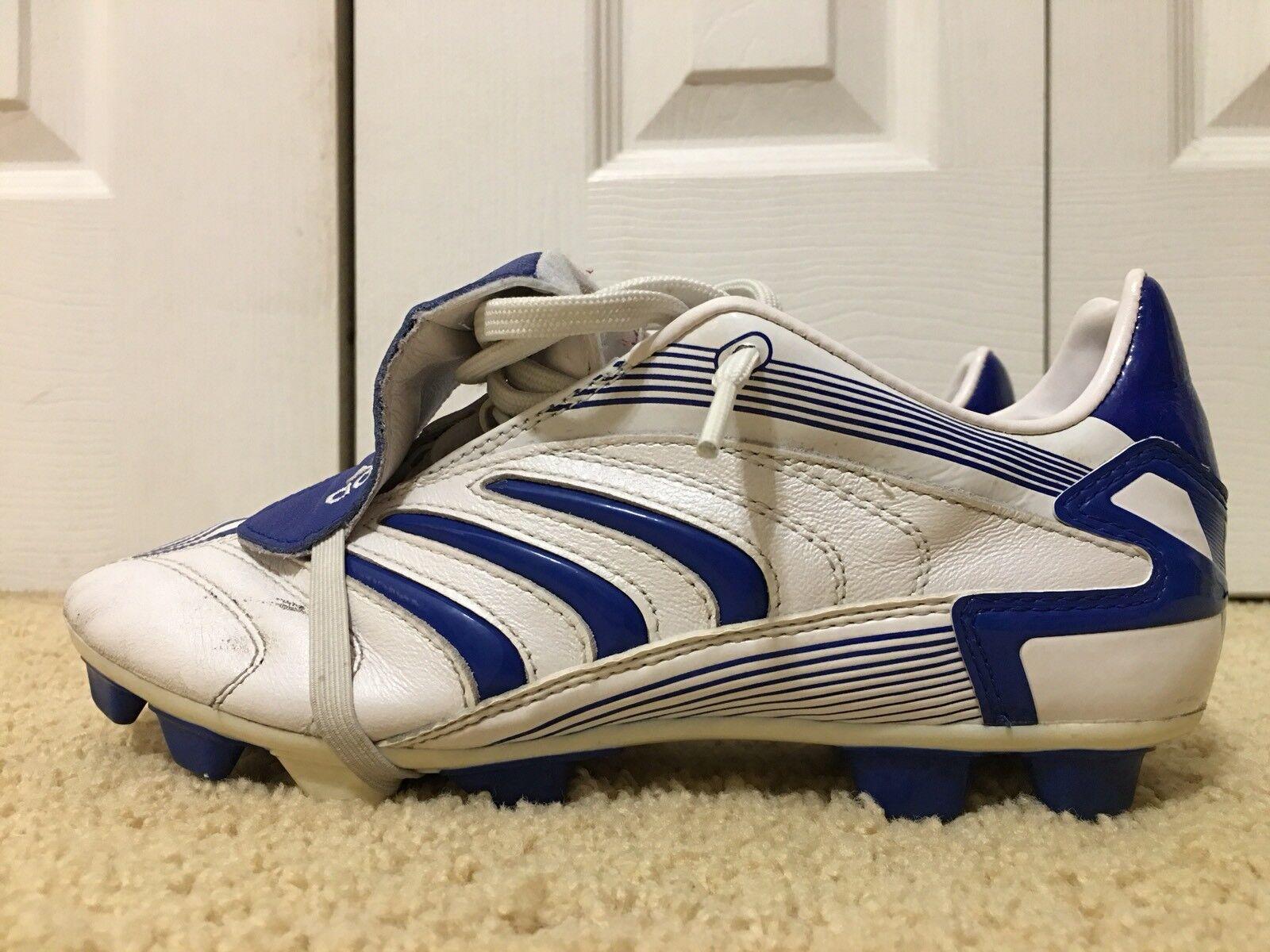 Adidas projoator Gama, arte Nº 017997, Boys fútbol tacos, blancoo Azul, Talla 5