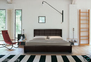LEATHER-BED-DOUBLE-KING-BLACK-BROWN-WHITE-WITH-MEMORY-FOAM-ORTHOPAEDIC-MATTRESS