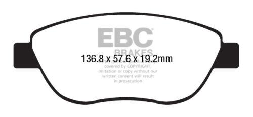 DP22212 EBC GreenStuff Front Brake Pads for Fiat 500L 1.3 TD 85 2012