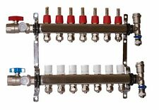 7 Loop 1 Stainless Steel Manifold For Radiant Heating For 12 Pex Tubing