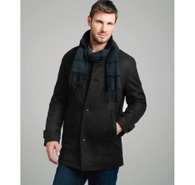 London Fog Charcoal Wool Blend Barrington Button Front Coat Größe XXL NWT 225