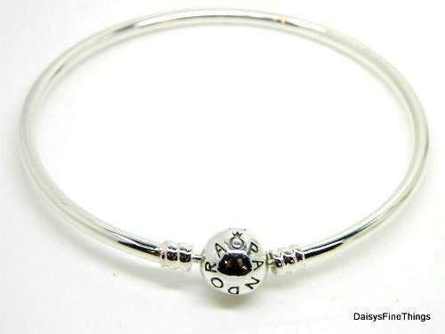 6cce2087492 PANDORA 590713 Sterling Silver Bangle Bracelet 21 Centimeters 2day Ship for  sale online | eBay
