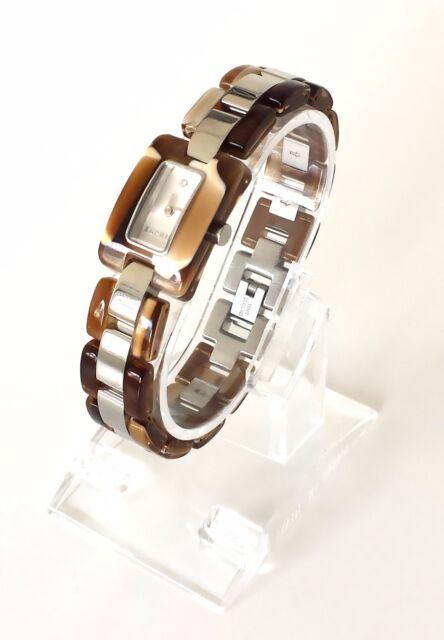 Esprit Damen Uhr Desert Tortoise braun silber Kunststoff ES106492002