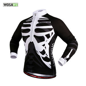 cd00a10e8 Cycling Jersey Mens Long Sleeve Biking Top Outdoor Sports wear New ...
