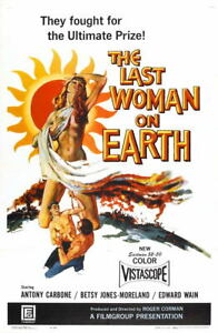 G4317-Last-Woman-On-Earth-Antony-Carbone-Movie-VHS-Vintage-Laminated-Poster-FR