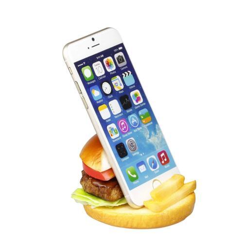 PLASTIC FOOD REPLICA for smartphone mobile phone stand // Hamburger