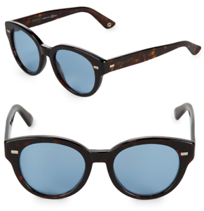 7a2f0164a405 GUCCI GG 3745/S Round Sunglasses Tortoise Havana Brown Blue Lenses ...