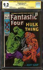 Fantastic Four #112 CGC 9.2 NM- Signed 2x STAN LEE & JOE SINNOTT Hulk vs. Thing