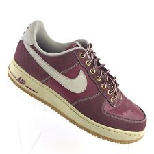 Nike Air Force 1 Low Sneaker Team Red Bone Burgundy Athletic Mens Shoe SIZE 9.5