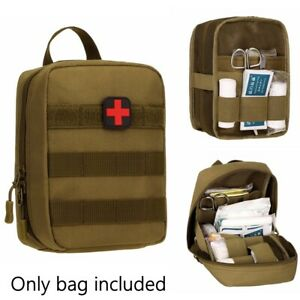 First Aid Kit Tactical Molle Military Medical Pouch Emergency Utility Tool Bag~