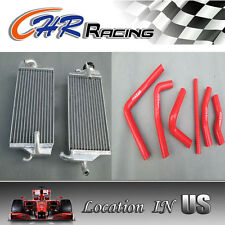 Aluminum Radiator Honda CR250 CR250R 2000 2001 and Silcone hose RED NEW