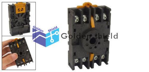 8PFA DIN Rail Mount 8 Pin Time Relay Socket Octal Base Screw