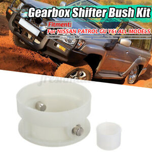 For-Gearbox-Shifter-Bush-Kit-For-NISSAN-PATROL-GU-Y61-White-Direct
