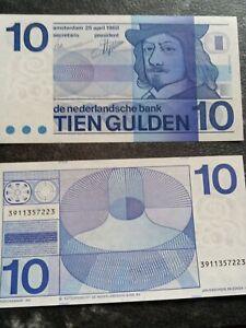 HOLLAND 10 florins billet billet original.