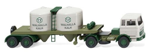 "MB 1620 Wiking 053403-1//87 Chemikaliensattelzug /""Walhalla Kalk/"" Neu"