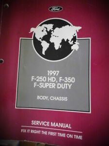1997 Ford F-250 HD F-350 F-Super Duty Body Chassis Service ...