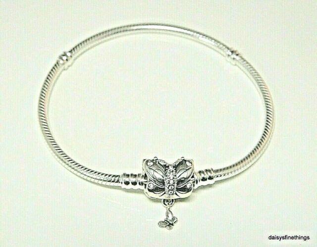 PANDORA Moments Butterfly Clasp Snake Chain Bracelet - Bbms189