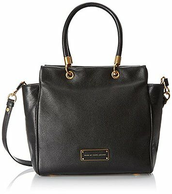 $498 MARC JACOBS TOO HOT TO HANDLE BENTLEY BLACK LEATHER LG TOTE BAG PURSE *NWT*