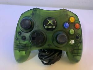 OEM-Microsoft-Original-XBOX-S-Controller-Green-Breakaway-Cable-TESTED