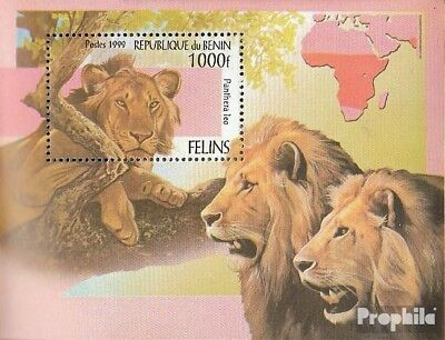 Topical Stamps Trustful Benin Block52 Mint Never Hinged Mnh 1999 Big Cats Big Clearance Sale