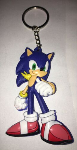 Sonic The Hedgehog Rubber Keychain US SELLER!!