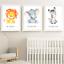 Safari Jungle Animals Nursery Prints Set Baby Kids Room Pictures Wall Art Decor
