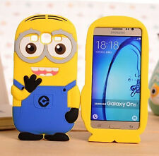 for Samsung Galaxy On5 G550 -Soft Silicone Skin Case Cover Cute 3D Yellow Minion
