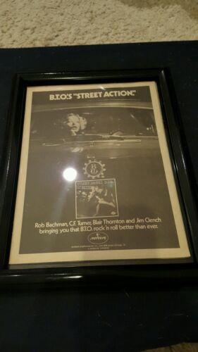 B.T.O. Street Action Rare Original Promo Ad Framed!