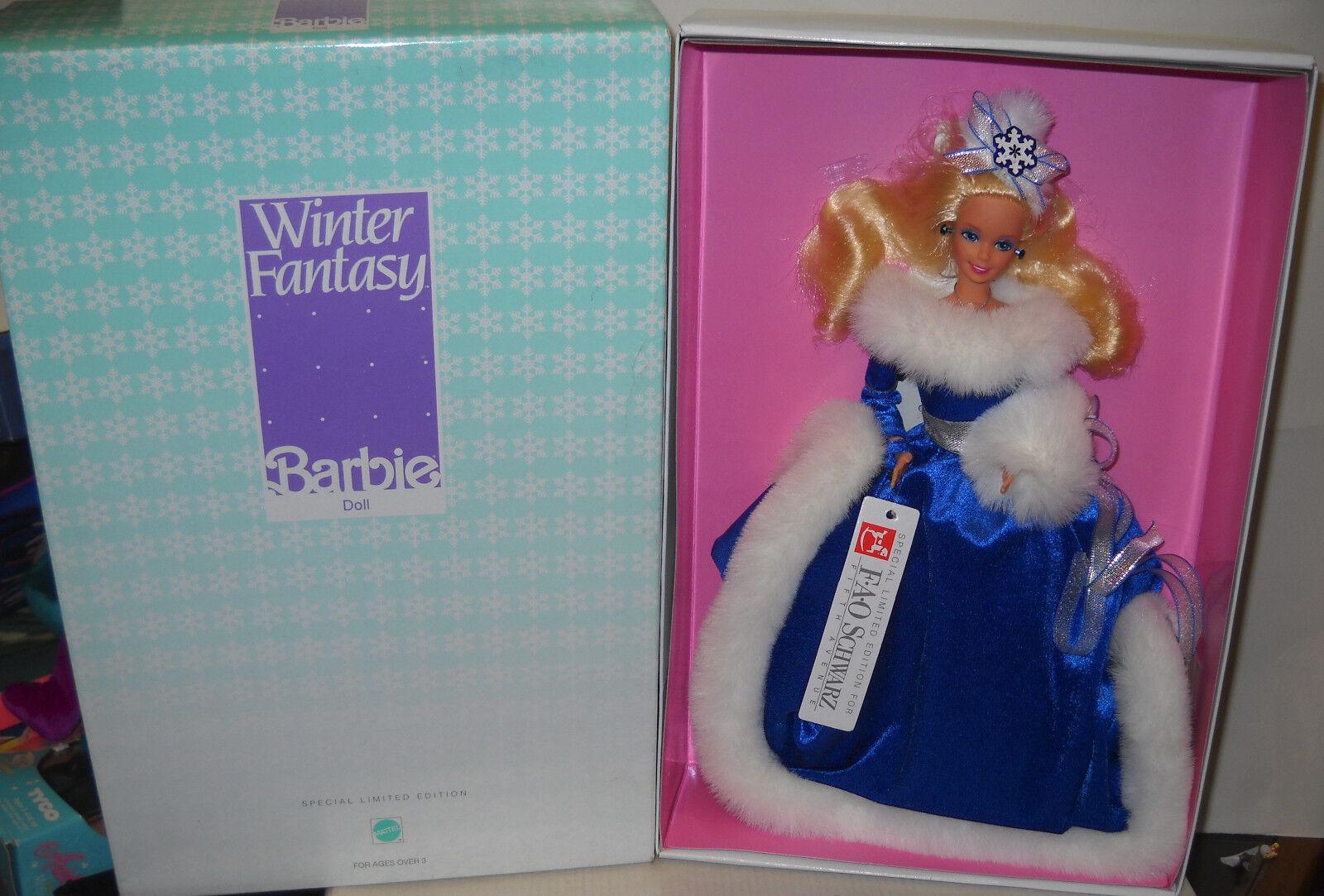 Nunca quitado de la Caja FAO negro Fantasía De Invierno Navidad Barbie