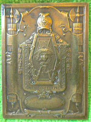 Coins & Paper Money Plaque In Bronzo Firmato G.gumpel E Alla Fiore Bright In Colour Other Ancient Coins