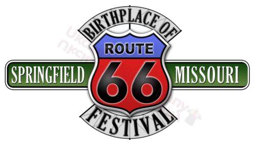 Route 66 Springfield Birthplace of Festival T-shirt-Femme Homme S à 5XL