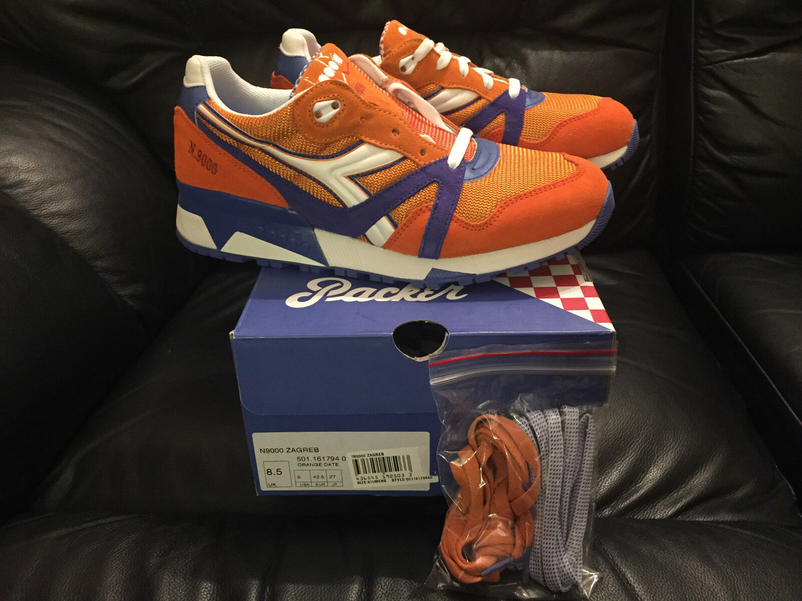 Packer x Diadora Diadora Diadora N.9000 Zagreb Trainers Limited Edition Größes UK 7  8.5 NEW ba012c