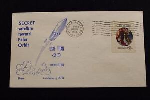 Raum-Abdeckung-1973-Maschine-Stempel-Secret-Satelliten-Launch-Polar-Orbit-1112