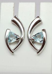 Edle-1-03-Carat-Blautopas-Ohrstecker-925-Silber-Design-Pur-Top-Ohrschmuck-sky-bl