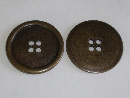 6 Stück große Mantelknöpfe Knöpfe Knopf ABS  altmessing  41 mm NEU 0128.1