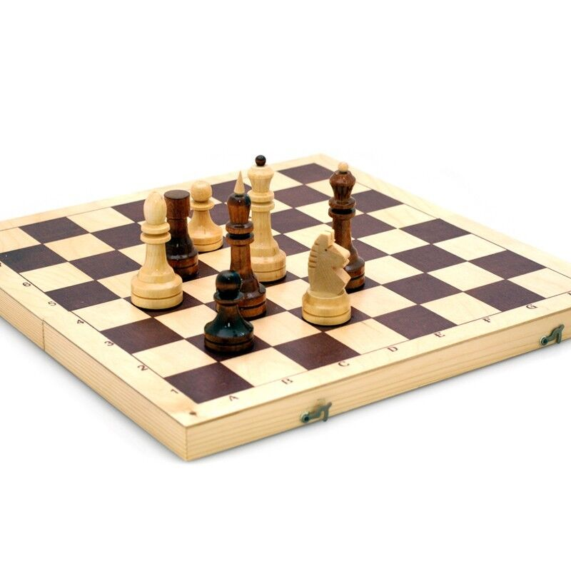Tournament Weighted Wooden Chess, Classic Board 16  Made in Russia