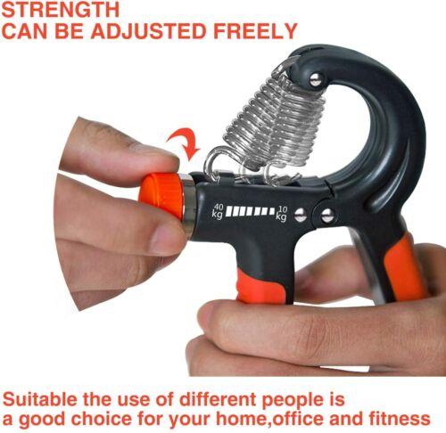 Hand Grip Strengthener Hand Wrist Forearm Trainer Exerciser Adjustable 22~88 Lbs