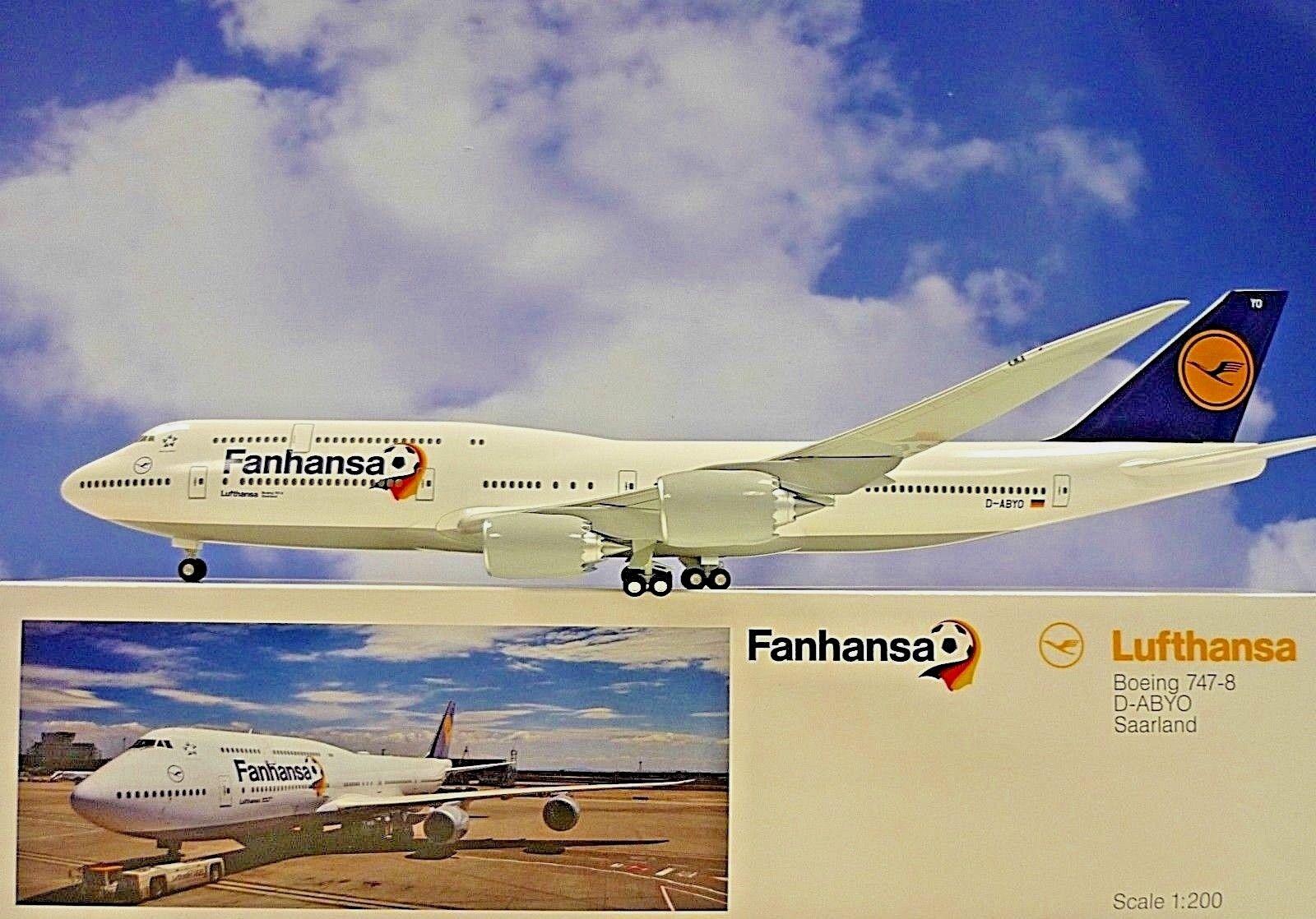 Limox Wings 1 200 Boeing 747-8  Fanhansa Saarland LH30  Herpa Wings Katalog    Innovation