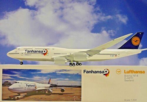 Limox Wings 1:200 Boeing 747-8  Fanhansa Saarland LH30 Herpa Wings Katalog