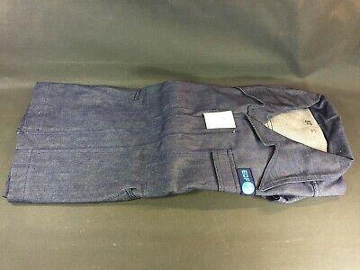 Appena Antica Giacca Jeans Edf Taille 52 Vintage Costume Blu Lavoro D'epoca Prezzo Di Liquidazione