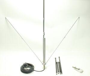 Pro 15km CZH-GP2 1/4 Wavelength GP Antenna For FM Transmitter 80W 50W NJ