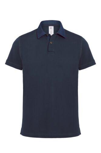 B/&C Denim Forward Men/'s Short Sleeve Polo Shirt PMD30 Casual Smart Collar Top