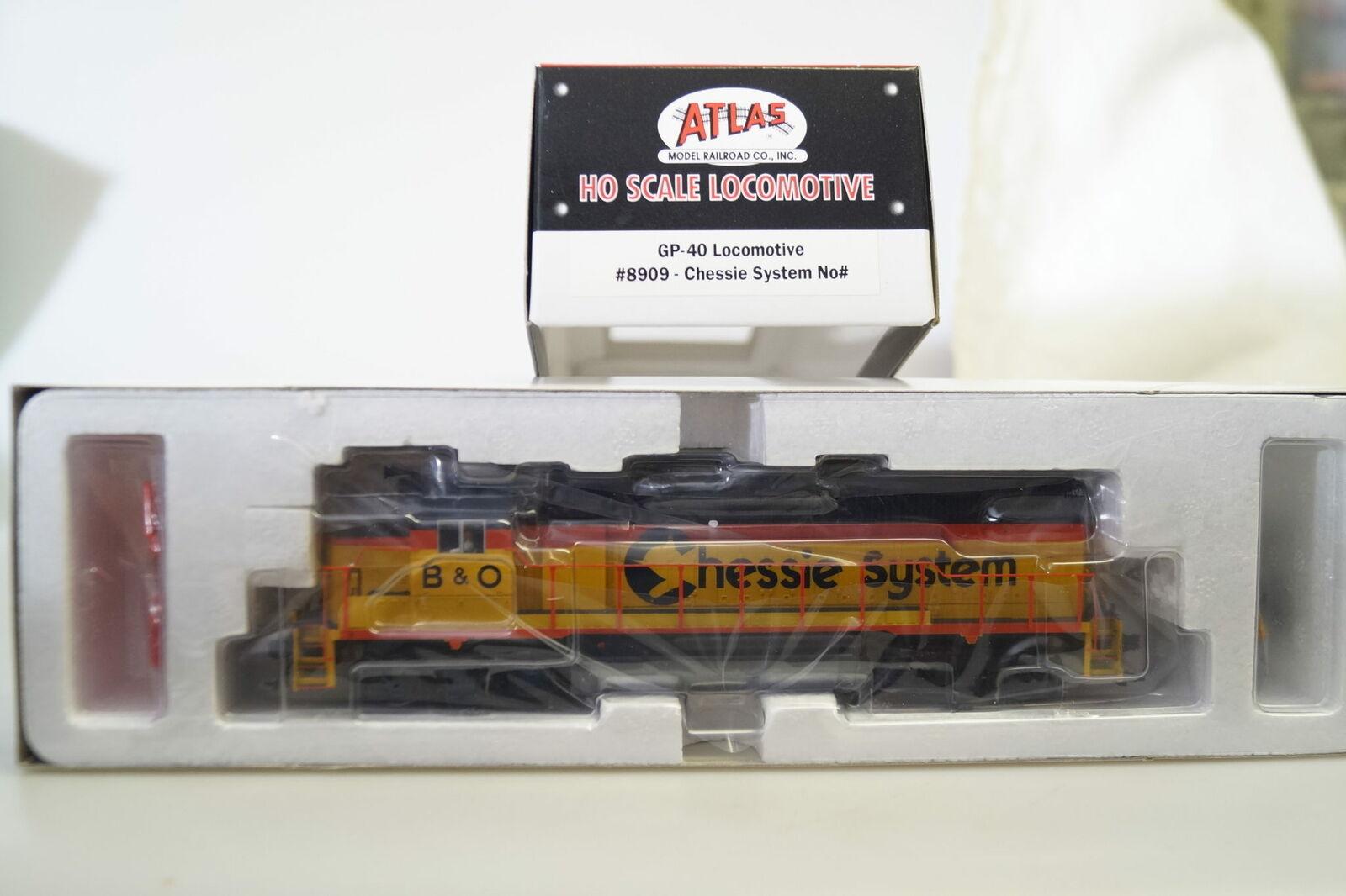 H0   Atlas 8909 Locomotora Diesel de Ee.uu. GP-40 Chessie System,Nuevo Embalaje