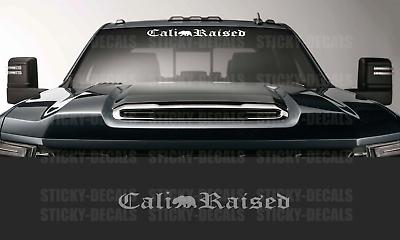 Cali Raised Decal Sticker Windshield Window Nor So Cal California Car Truck SUV