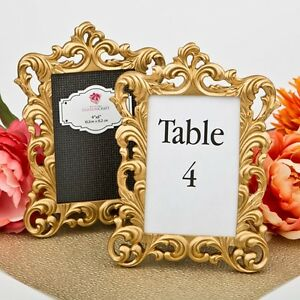 18 Gold Vintage Baroque Table Frames Wedding Bridal Baby Shower