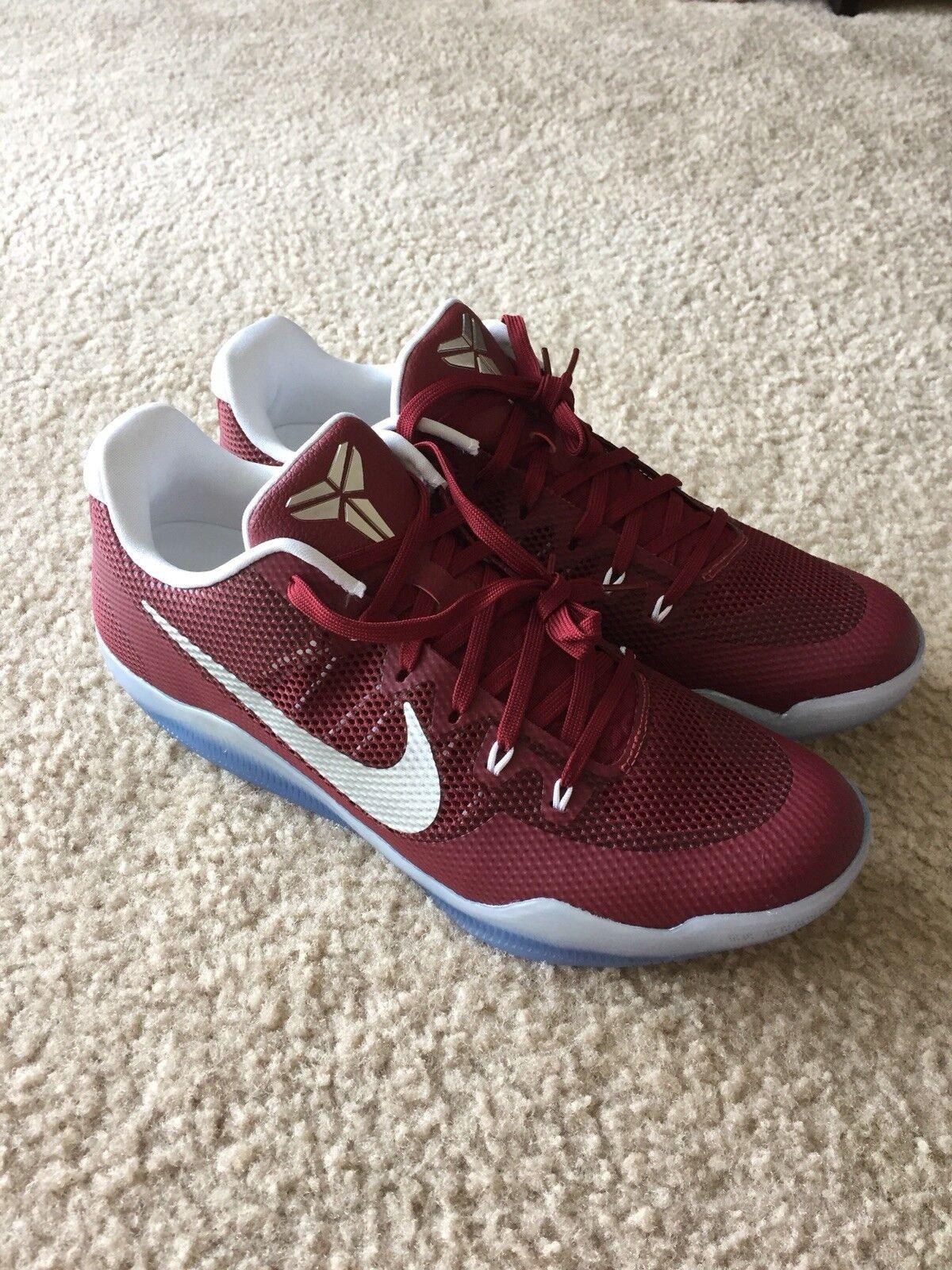 Nike Kobe XI TB Promo Team Red Maroon 856485 662 Men's Size 13.5 NoBoxLid
