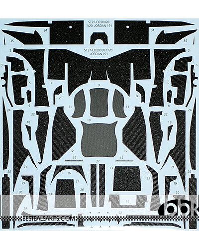Studio 27 full - carbon - aufkleber 1   20 jordan j191 191 fr tamiya schumacher schumi