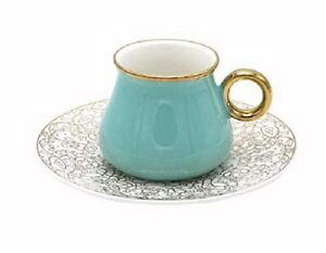 Luxury-Bone-China-Espresso-Turkish-Coffee-Set-of-6-Cups-Saucers-Teal
