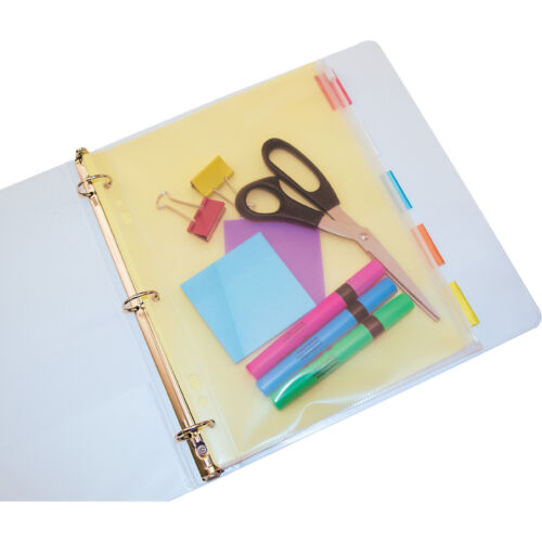 """8/"""" X 10.50/"""" Anglers Zip-all Ring Binder Pockets Vinyl Clear 1each"""